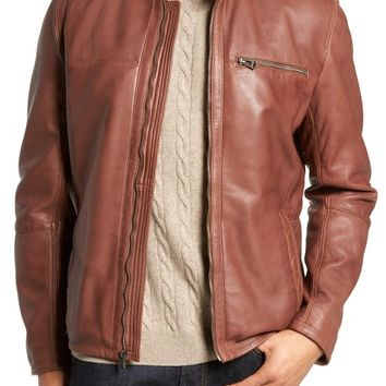 Cole Haan Washed Lamb Leather Moto Jacket | Nordstrom