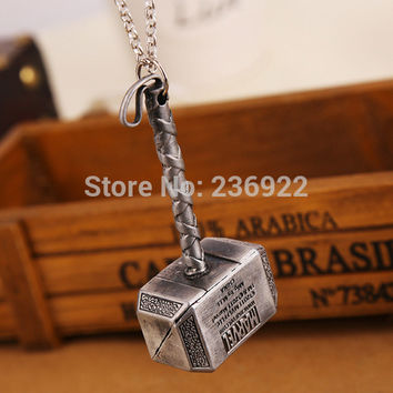 Titanium Steel Necklace Charms Thor hammer | Tophatter