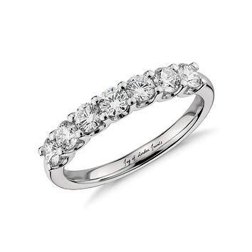 A Perfect 2TCW Round Cut Russian Lab Diamond Wedding Band Ring