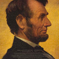 Abraham Lincoln Gettysburg Address History Poster 24x36