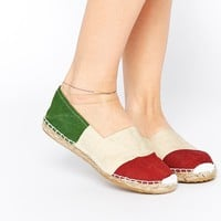 OAS Italy Espadrille Slip On Flat Shoes