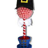 Lollipop Candy Nutcracker Topiary