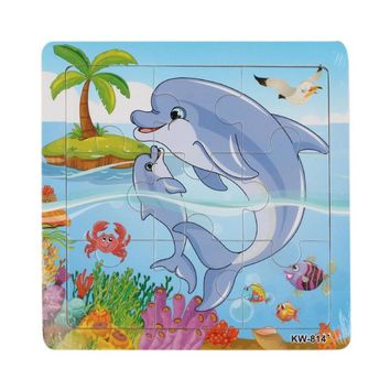 High Quality Dolphin Wooden Jigsaw Toys For children Educational Toy Puzzles Brain Teaser Puzzle Kid toys Wood Puzzles toy