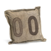 Vintage Tent Canvas 00 Accent Pillow