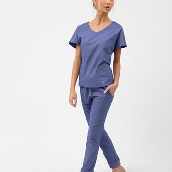 The Skinny Pant - Ceil Blue