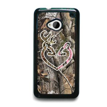 CAMO BROWNING LOVE HTC One M7 Case Cover