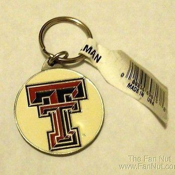 Texas Tech Red Raiders PREMIUM Pewter Medallion Keychain Key Chain University of