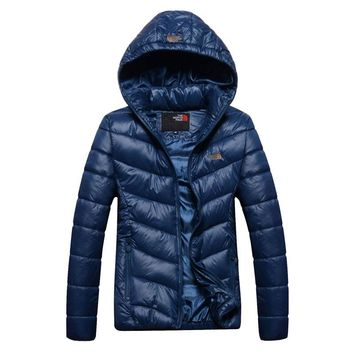 The North Face 2018 winter new warm outdoor cotton coat down jacket blue