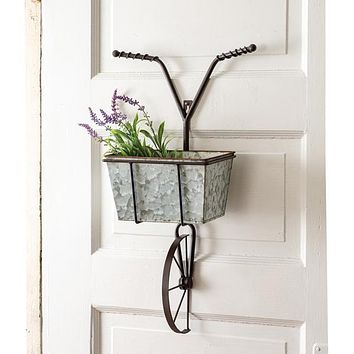 Bicycle with Basket Wall Planter