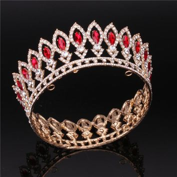 Rhinestone Queen King tiara Crown Bridal Wedding Jewelry Tiaras and Crowns for Women Head Ornament Pageant Hair accessories
