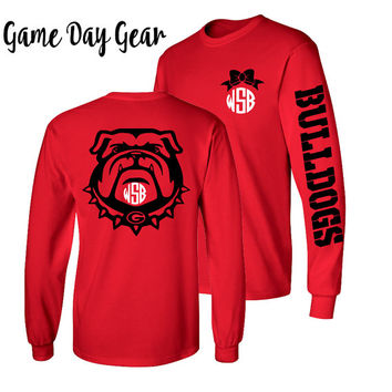 1 Monogrammed Shirt, Long Sleeve, Georgia Bulldog shirt, SEC Shirt