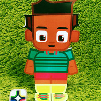 Cameroon football soccer craft activity. Printable paper toy. Instant download. Make you own cards, banners and football soccer bunting!