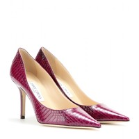 jimmy choo - agnes snakeskin pumps