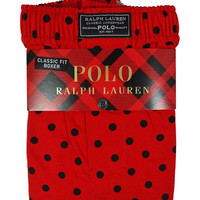 Polo Ralph Lauren Men's Polka Dot Classic Fit Boxer (M, Red)