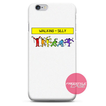 Keith Haring Walking Silly iPhone Case 3, 4, 5, 6 Cover
