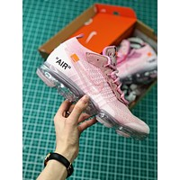 Off White X Nike Air Vapormax 2018 Pink Sport Running Shoes - Sale