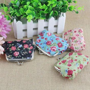 ESBONFI Coin Pures Wallet For Women's Handbag Vintage Flower Retro Wallet Visiting Card Holder Purse For Coins Kids Clutch Money Bag