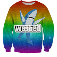 Left Shark is God Crewneck Sweater