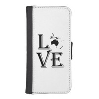 Love Oceania Continents Phone Wallets