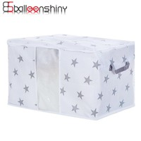 BalleenShiny Non-Woven Fabric Home Storage Bag For Clothes Underwear Tidy Organizer Pouch Portable Travel Clothes Container Case