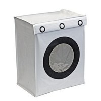 Streamline Washing Machine Style Dirty Clothes Laundry Hamper