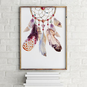 American Indian DreamCatcher Wall Art Wall Decor Indian Dream Catcher Dictionary Art Print illustration Old  Instant download Wall artwork