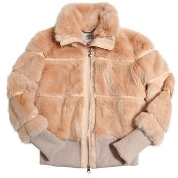 Armani Girls Faux-Fur Bomber Jacket