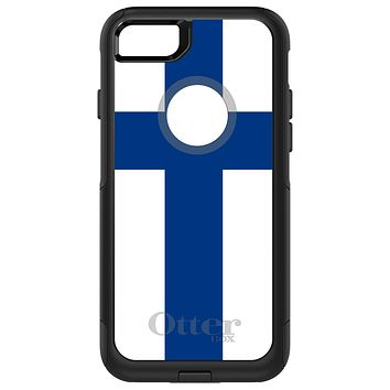 DistinctInk™ OtterBox Commuter Series Case for Apple iPhone or Samsung Galaxy - Finland Flag