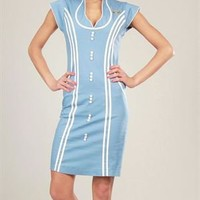 Voodoo Vixen Buttoned Attendant Dress - Career And Day Dresses - Modnique.com