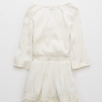 Aerie Fringe Trim Dress , Soft Muslin