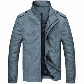 New Lightweight Mens Water Repellent Stand Collar Jackets  Fashion Casual  Jacket for Men Sportswear Bomber Jacket