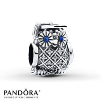 PANDORA Charm Graduate Owl Sterling Silver