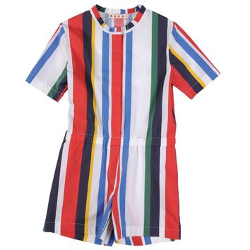 Marni Girls Colorful Striped Jumpsuit