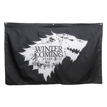 Game Of Thrones Winter Is Coming Stark Sigil Logo Licensed Banner Flag - 30x50