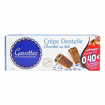 Gavottes Milk Chocolate Crepe Dentelle 3.1 oz.