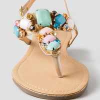 Quinney Jeweled Flat Sandal