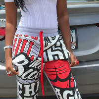 Boyfriend Chicago Bulls sweat pants