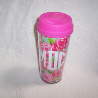 Personalized Lilly Pulitzer Insulated Thermal Mug FIRST IMPRESSION