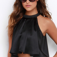 A Capella Choir Black Crop Top