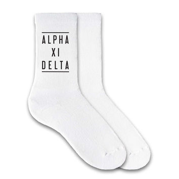 Alpha Xi Delta Sorority Double Lines