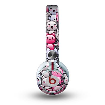 The Cute Abstract Kittens Skin for the Beats by Dre Mixr Headphones