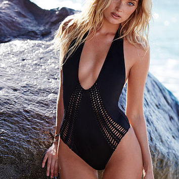 Macramé Plunge One-piece - Victoria's Secret