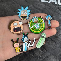 Miss Zoe Rick and Morty Classic Cartoon icons Style Enamel pin Badge Buttons Brooch Anime Lovers Shirt Denim Jacket lapel pin