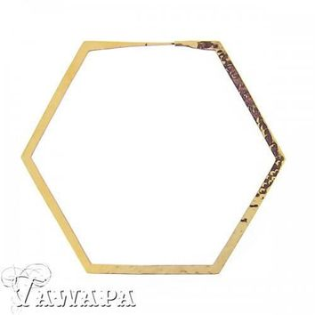 Tawapa Hexagon Hoop Earrings