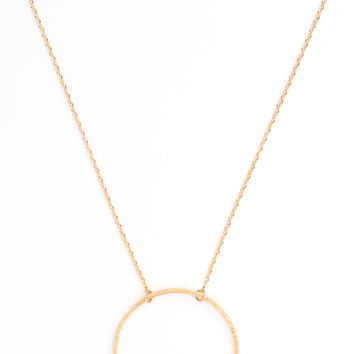Charmed Circle Necklace - Gold