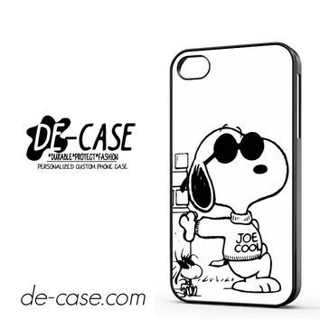 Snoopy Joe Cool DEAL-9766 Apple Phonecase Cover For Iphone 4 / Iphone 4S
