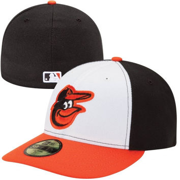 New Era Baltimore Orioles Low Crown AC 59FIFTY On-Field Home Fitted Performance Hat - Black/Orange