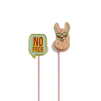 Angled Earbuds: No ProbLlama