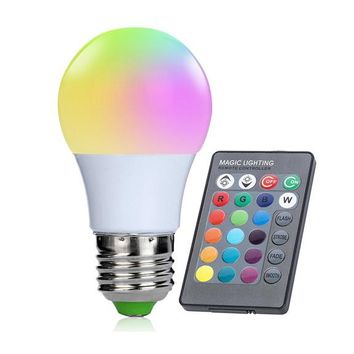 3W 24 key IR Remote Control RGB LED Lamp for Living Room