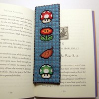 Super Mario Items Bookmark Cross Stitch Pattern | Los Angeles Needlework